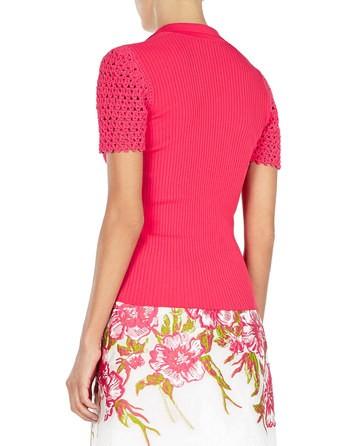 Crochet-sleeves Polo-knit