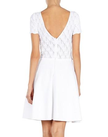 Pointelle-knit Mini Dress