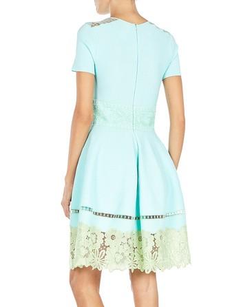Lace-panelled Knit Dress