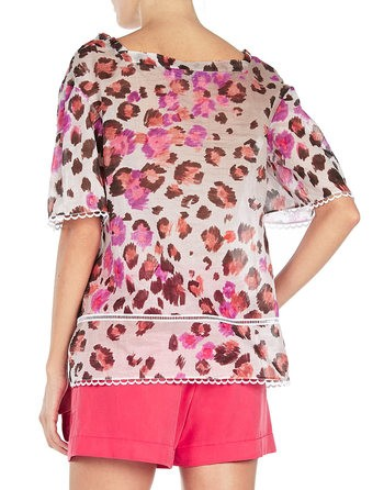 Cotton-voile Printed Blouse