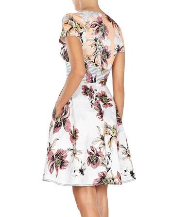 Cap Sleeve Floral Print Dress