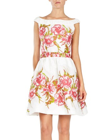 Floral Embroidered A-line Dress