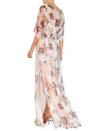 Printed Silk Chiffon Maxi Dress
