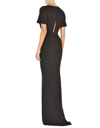 Embroidered Jersey Gown