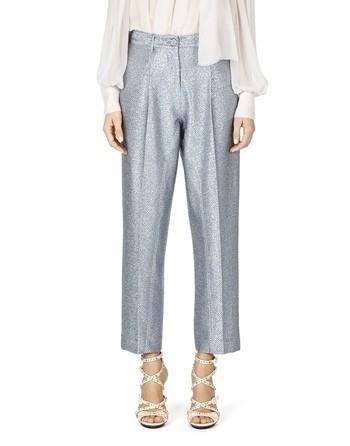 Pleated Lurex Pants