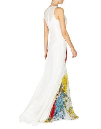 Floral-print Silk Gown