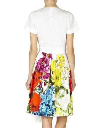 Floral-print Shirt Cotton Dress