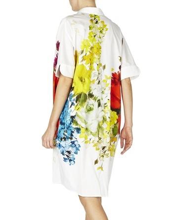 Floral-print Long Blouse