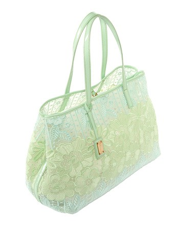 Macramé-lace Appliquéd And Leather Tote Bag