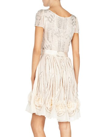 Tulle-embroidered Dress