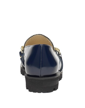 Leather Moccasins With Chain