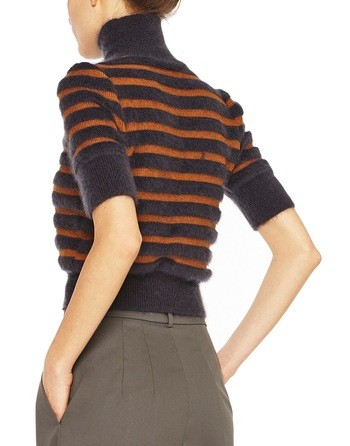 Striped Wool And Silk Sweater