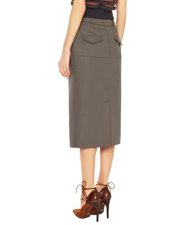 Technical Cotton Midi Skirt
