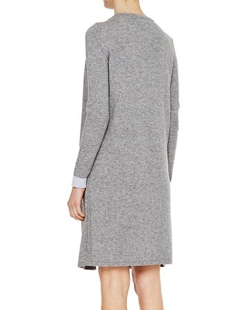 Dress With Cardigan In Bicolour Knit