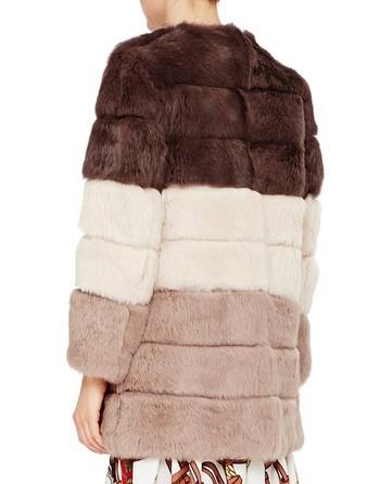Faded Rabbit Fur Coat
