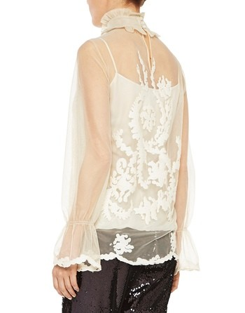 Embroidered Tulle Shirt
