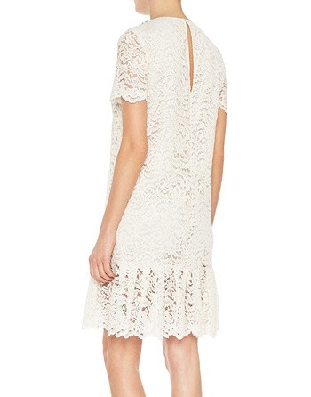 Lace Dress With Jewel Embroidery Work