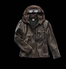 VINTAGE GOGGLE LEATHER JACKET