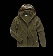 GOGGLE HOODED CARDIGAN