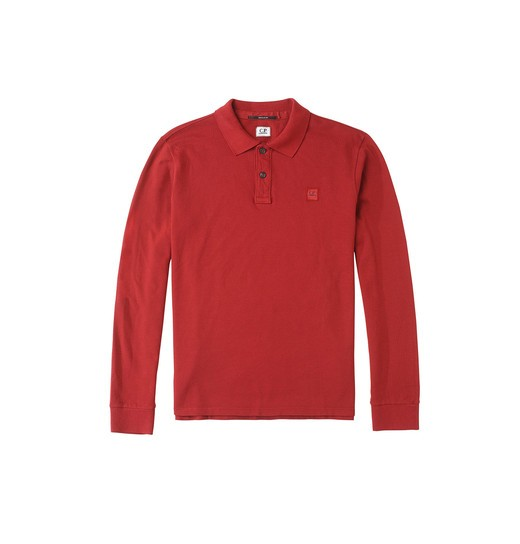 REGULAR FIT LONG-SLEEVED COTTON POLO SHIRT